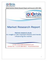 Global Interferon Market Research Report and Forecast to 2017-2021.pdf