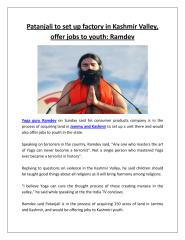 Patanjali to set up factory in Kashmir Valley, offer jobs to youth Ramdev.pdf