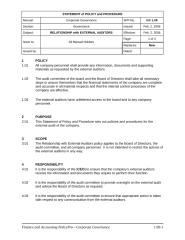 Relationship with External Auditors Policy.doc