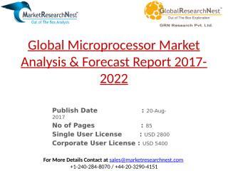 Global Microprocessor Market Analysis & Forecast Report 2017-2022.pptx