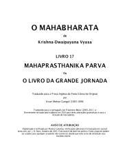 O Mahabharata 17 Mahaprasthanika Parva em português.pdf