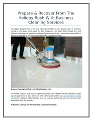 Prepare & Recover From The Holiday Rush With Business Cleaning Services.doc