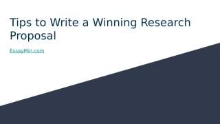 Tips to Write a Winning Research Proposal.pptx