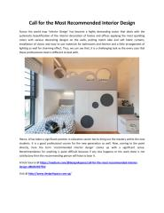 Call for the Most Recommended Interior Design.pdf
