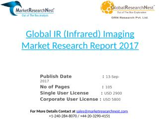 Global IR (Infrared) Imaging Market Research Report 2017.pptx