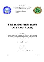 Face Identification Based on Fractal coding.docx
