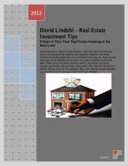 Dave Lindahl Invesment Tips - RE Tips, RE Investor, Dave Lindahl false scam