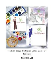 001 Fashion Design Illustration For Beginners - Class Resource List.pdf