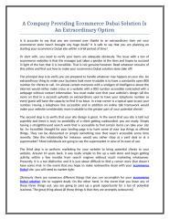 A Company Providing Ecommerce Dubai Solution Is An Extraordinary Option.doc